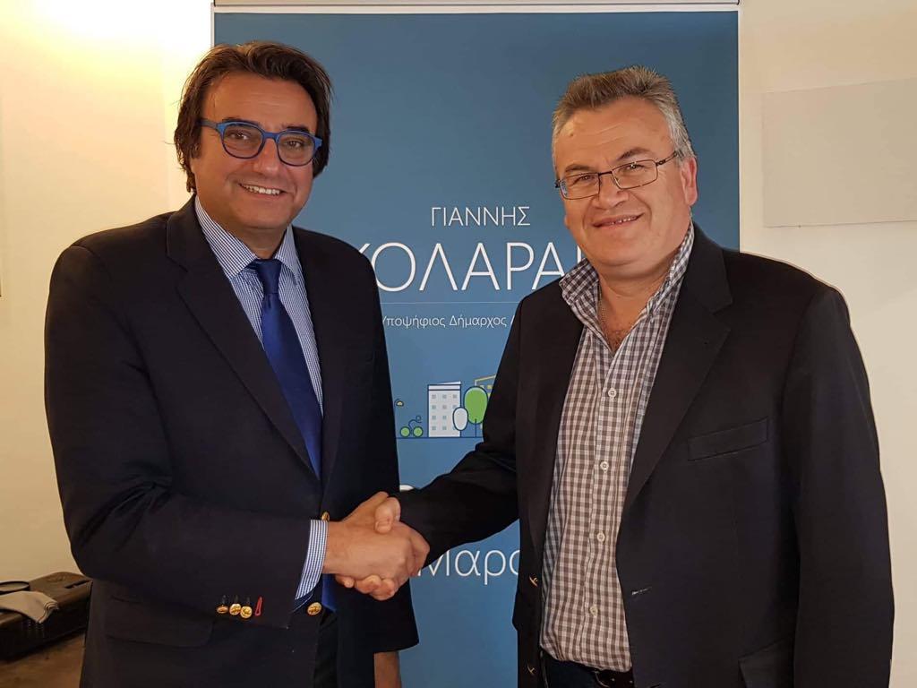 Ο Γιάννης Νικολαράκος με τον Γιώργο Τζανάκη.