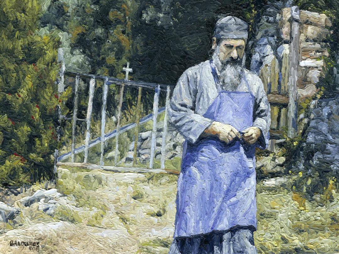 Ο μοναχός Λουκάς στο Αγιο Ορος