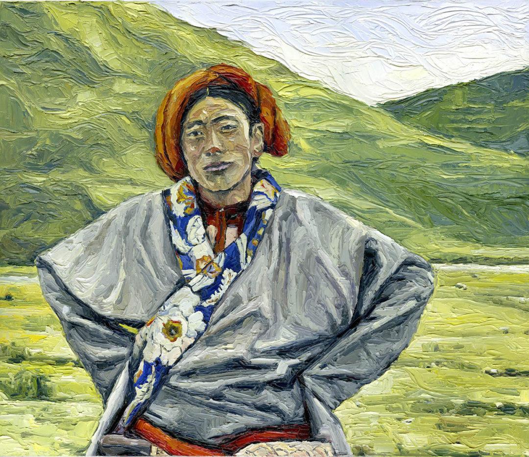 Θιβετιανός με παραδοσιακη στολή